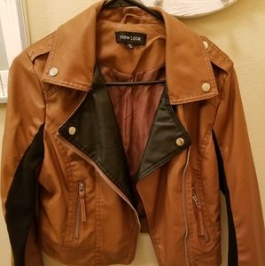 Brown New look Faux leather jacket